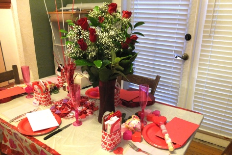 My husband provide the roses!