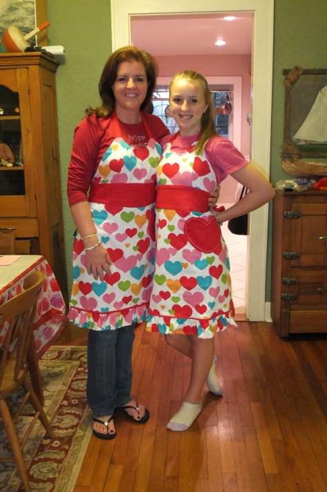 In 2012 we got matching aprons!